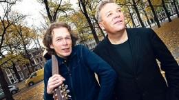 Marcel Verreck en Paul Pleijsier in actie op het Lange Voorhout