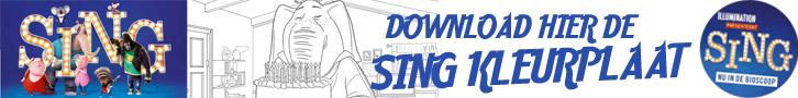 Sing Kleurplaat