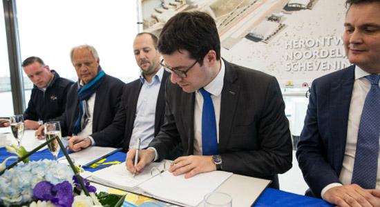Ondertekening Scheveningen - Gebiedsontwikkeling overeenkomst