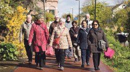 Buurthuis van de Toekomst, wandelclub WZH Hogeveld, Stadskrant mei.  Gemeente Den Haag OCW - Onderwijs, Cultuur en Welzijn